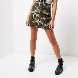 Jupe militaire - River Island 18€