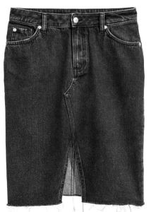 Jupe en jean noir - H&M